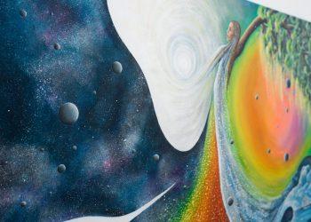 """Obraz akrylowy – abstrakcja – malarstwo współczesne """"Elemenst"""" Joanna Ratajczyk"""